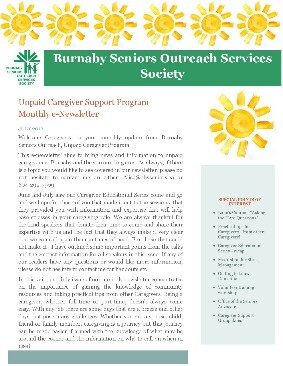 Caregivers Newsletter July 2016