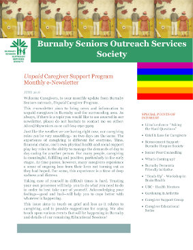 Caregivers Newsletter June 2016