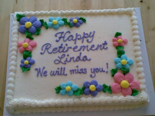Linda's retirement cake!