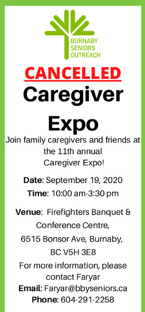 Caregiver Expo 2020 Cancelled