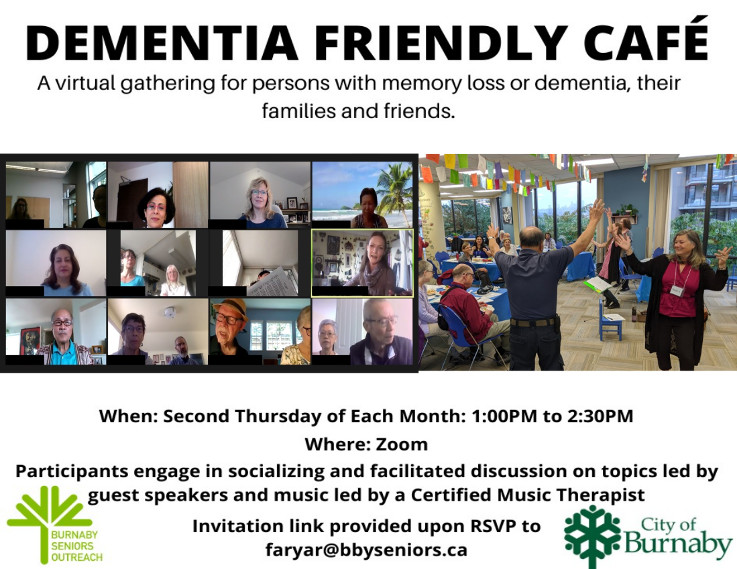 Dementia Friendly Cafe over Zoom